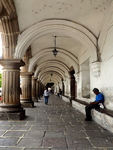 Archways of the colonial architecture of Antigua, Guatemala