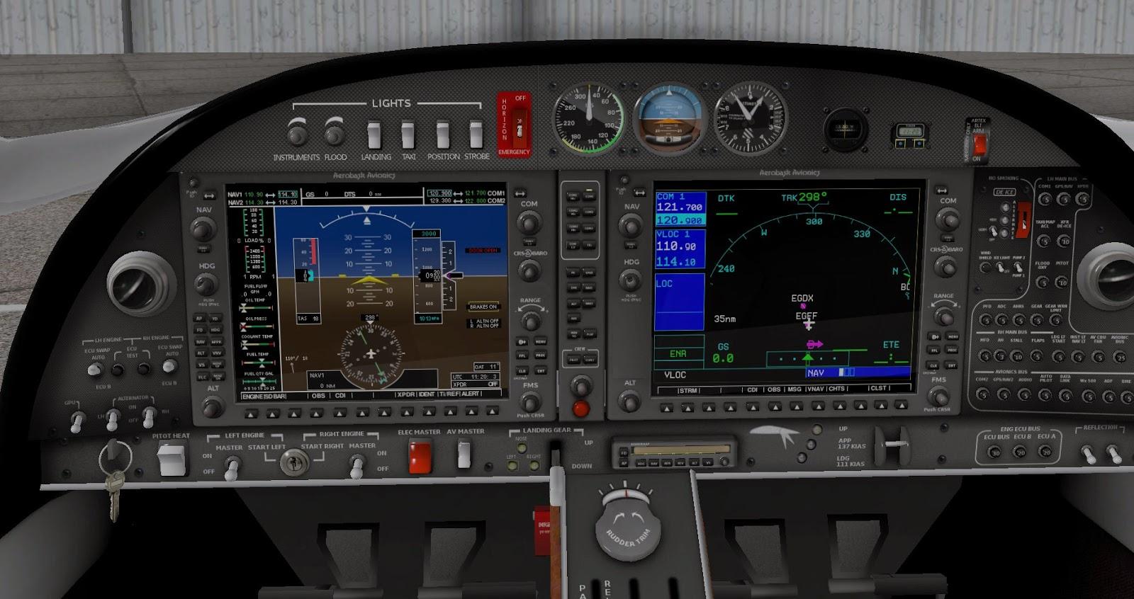 X Plane 11 Keyboard Map