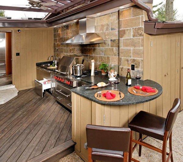Dapur Outdoor Yang Menarik