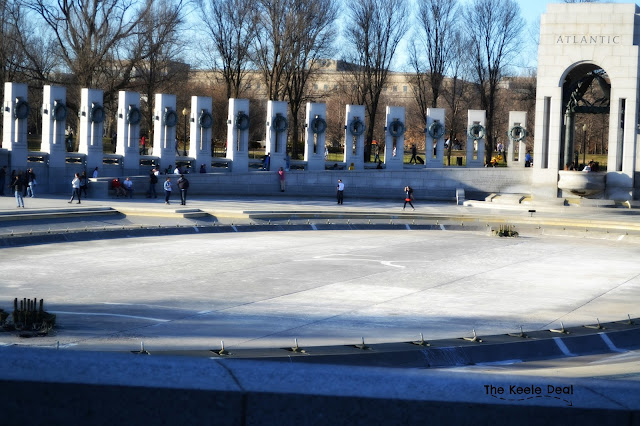 The water features on the National Mall were emptied - this is the first time I have seen the reflection pool and other water features emptied.
