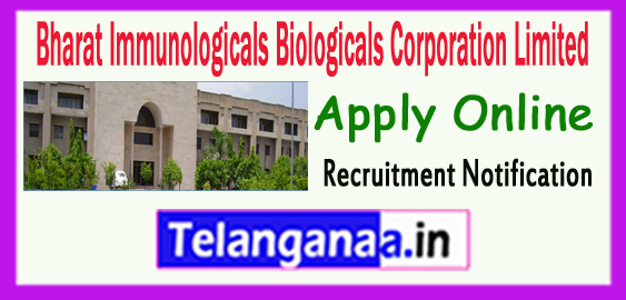 BIBCOL Bharat Immunologicals Biologicals Corporation Limited Recruitment Notification 2017 Apply