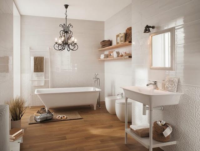 Azulejos blancos para ba os 9 ejemplos imprescindibles - Idea accessori bagno ...