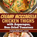 Creamy Chicken Thighs and Asparagus