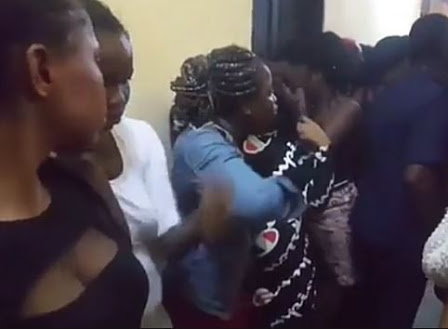 PHOTOS: Nigerian Ladies Arrested In Ghana As Pros-titutes