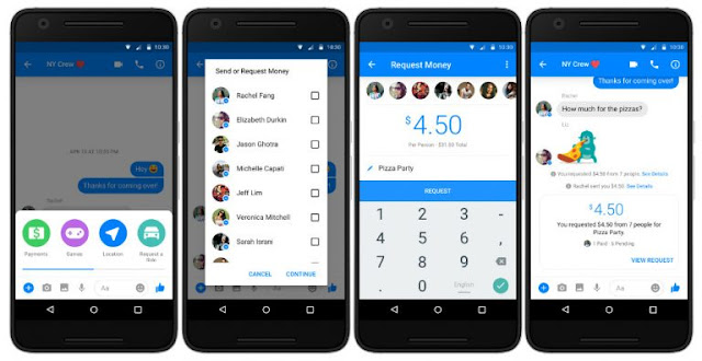 Facebook Messenger Gets Group Payments