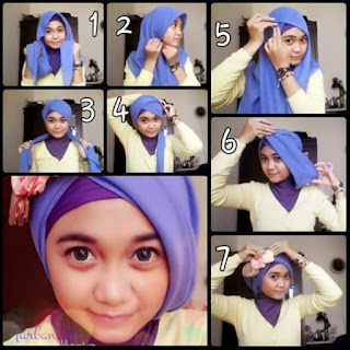 tutorial cara memakai model jilbab modern untuk acara pesta 7