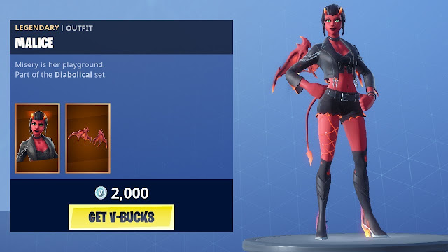 Skin Malice And Burning Axe Available at Fortnite Item Shop