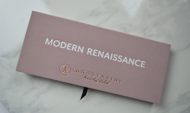 Anastasia Beverly Hills Modern Renaissance eyeshadow palette packaging