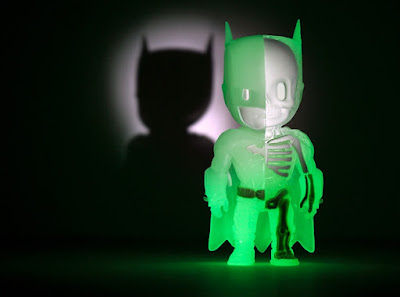 Kidrobot Exclusive Glow in the Dark Batman XXRAY DC Comics Vinyl Figure by Jason Freeny & Mighty Jaxx