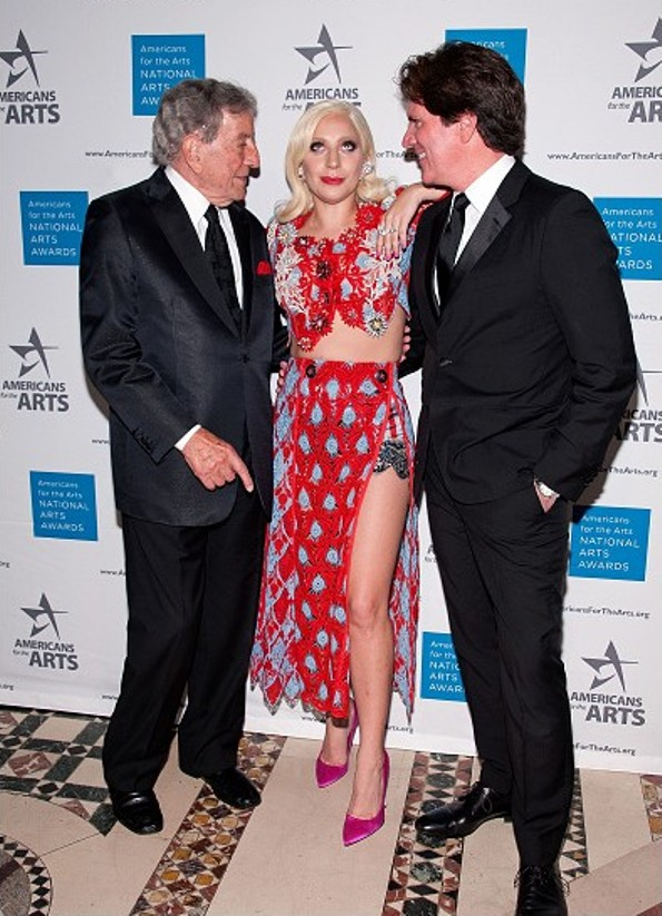 Lady Gaga In Marc Jacobs At The 2015 National Arts Awards