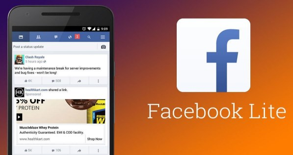 Facebook Lite Login Home Page