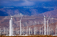 Wind Turbines Coachella Valley Palm Springs California (Credit: depositphotos.com) Click to Enlarge.