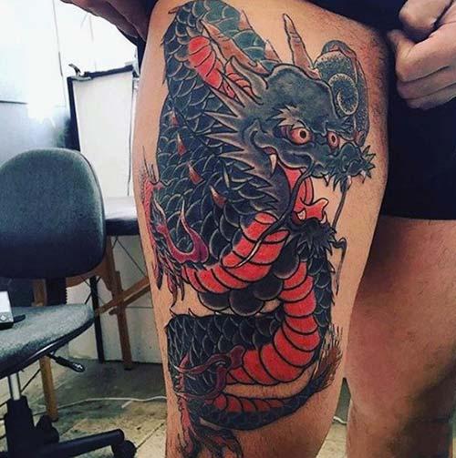 erkek üst bacak dövme modelleri man thigh tattoos 30