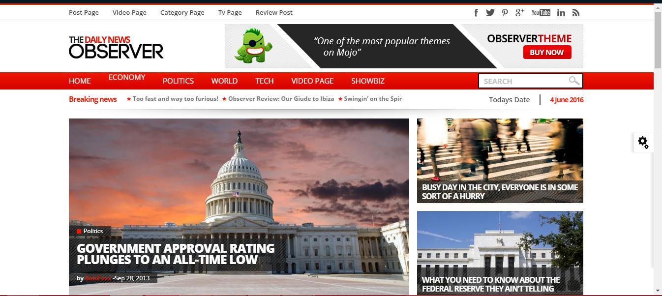 MultiPurpose News-magazine Wordpress theme