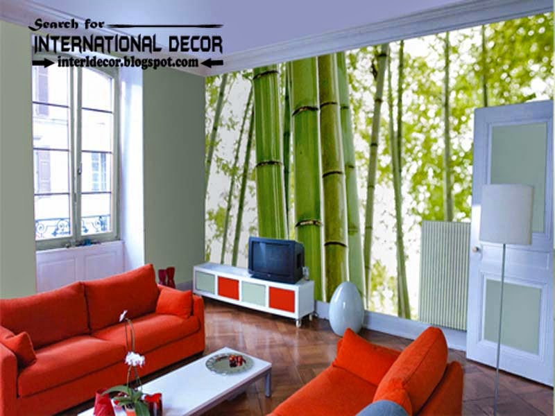 contemporary wall murals wallpaper, wall covering ideas, natural wall mural