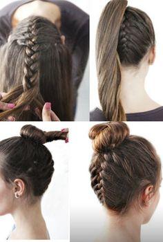 se coiffer en 5 minutes tutorial cheveux long