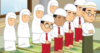 animasi orang ibadah