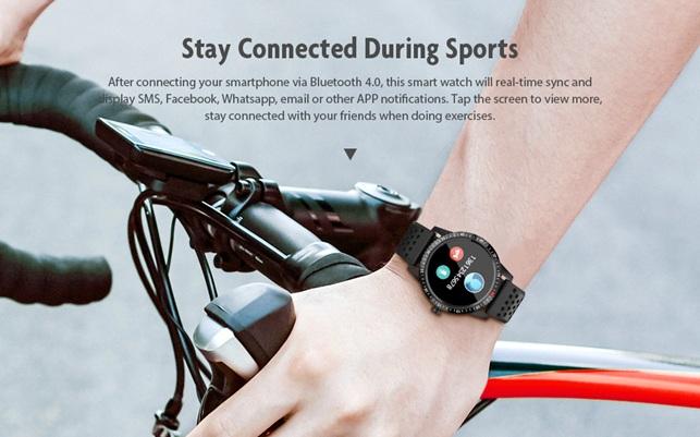 Alfawise T1: smartwatch deportivo con protección IP67