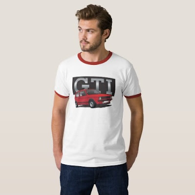 VW Golf GTI Mk1 t-paita t-shirt