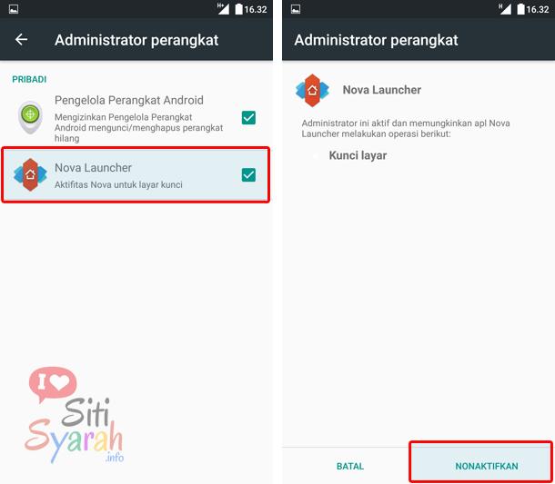 menghapus aplikasi dari administrato perangkat android