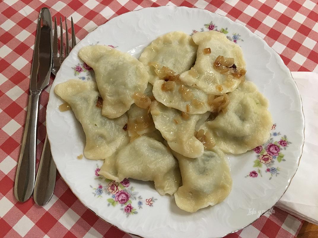 Comer en Cracovia pierogi