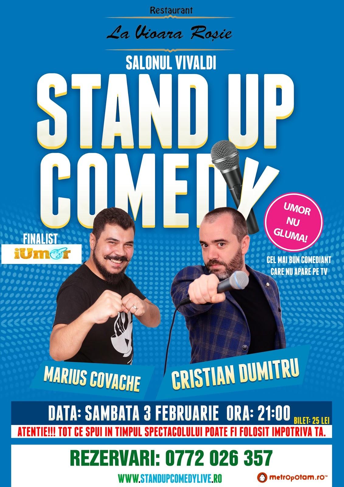 Stand-Up Comedy Bucuresti Sambata 3 Februarie Vioara Rosie