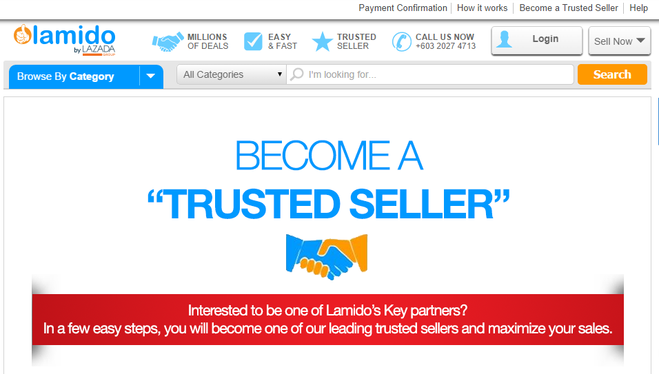 Malaysia online marketplace - Lamido
