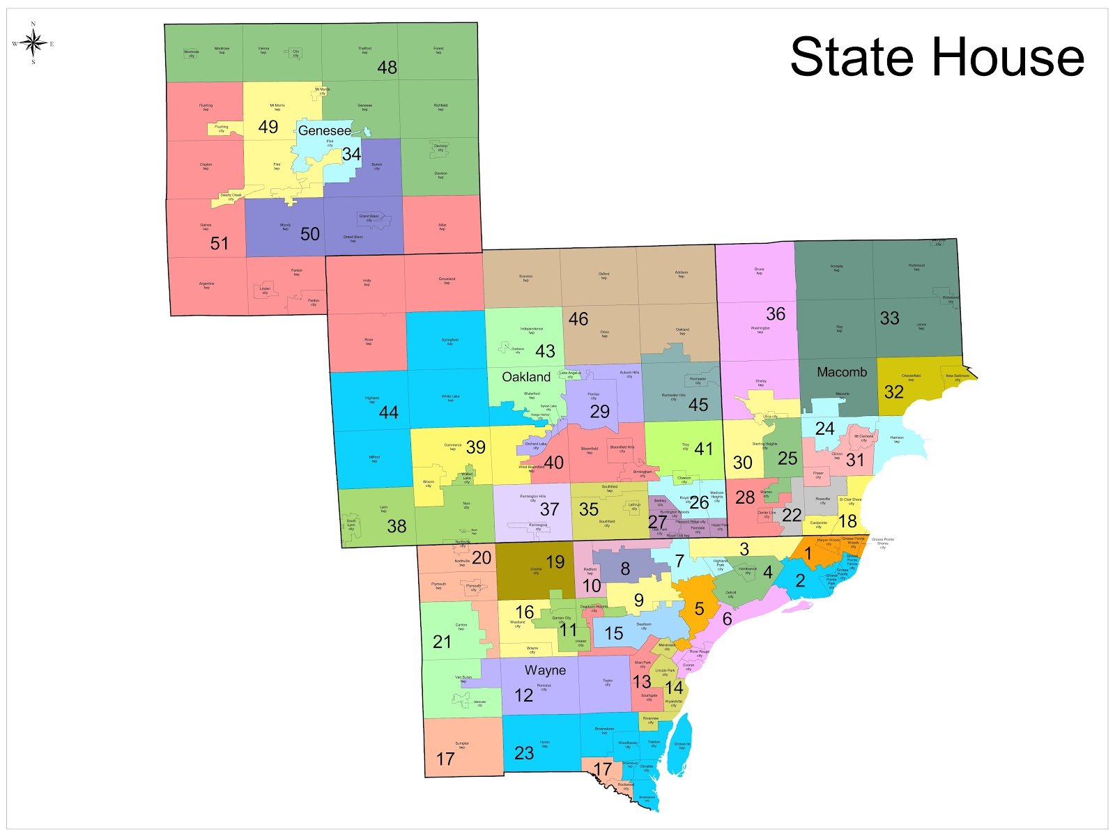 elections politics amp policy new district maps us house of representatives district map michigan