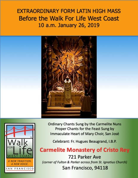 New Liturgical Movement: Masses in San Francisco during the