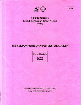Naskah Soal Sbmptn 2015 Tes Kemampuan Dan Potensi Akademik (Tkpa) Kode Soal 622