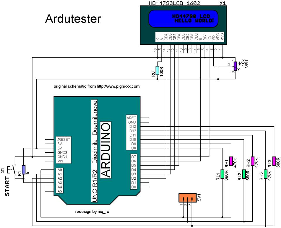 Membuat esr meter dengan arduino uno r3 blog edukasi langkah pertama siapkan arduino anda dan rangkai sesuai dengan skema dibawah ini ccuart Choice Image