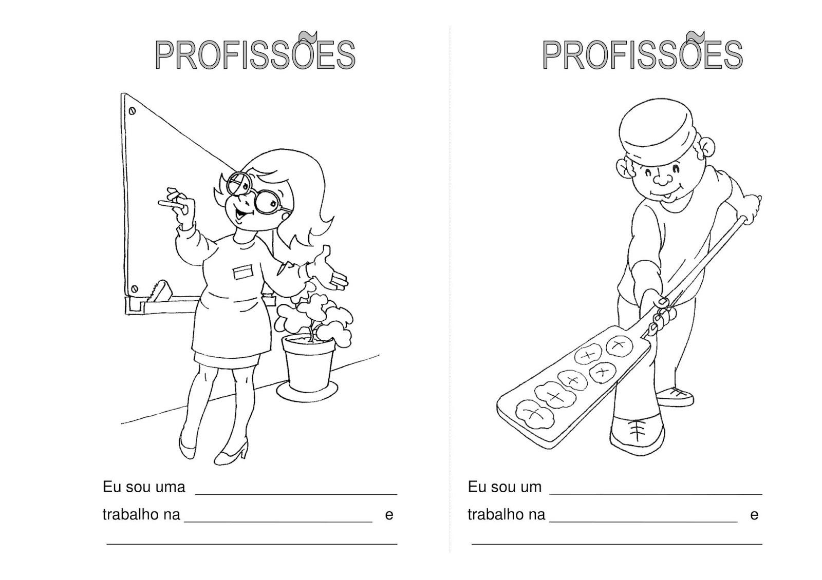 atividades para o dia do trabalho livro das profiss u00d5es