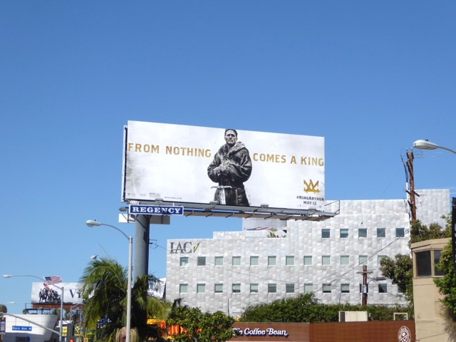 King Arthur movie billboard Sunset Strip