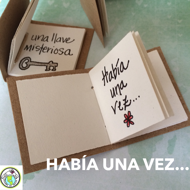 Make Tiny Books in Spanish Class for el Día del Libro