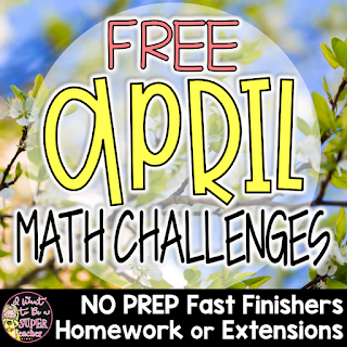 Need some free Easter math printables? This April Math Challenge freebie includes 2 leveled chocolate bunny themed math challenges, answer keys, and lined pages for students to write about the strategies they used to solve the problem(s).