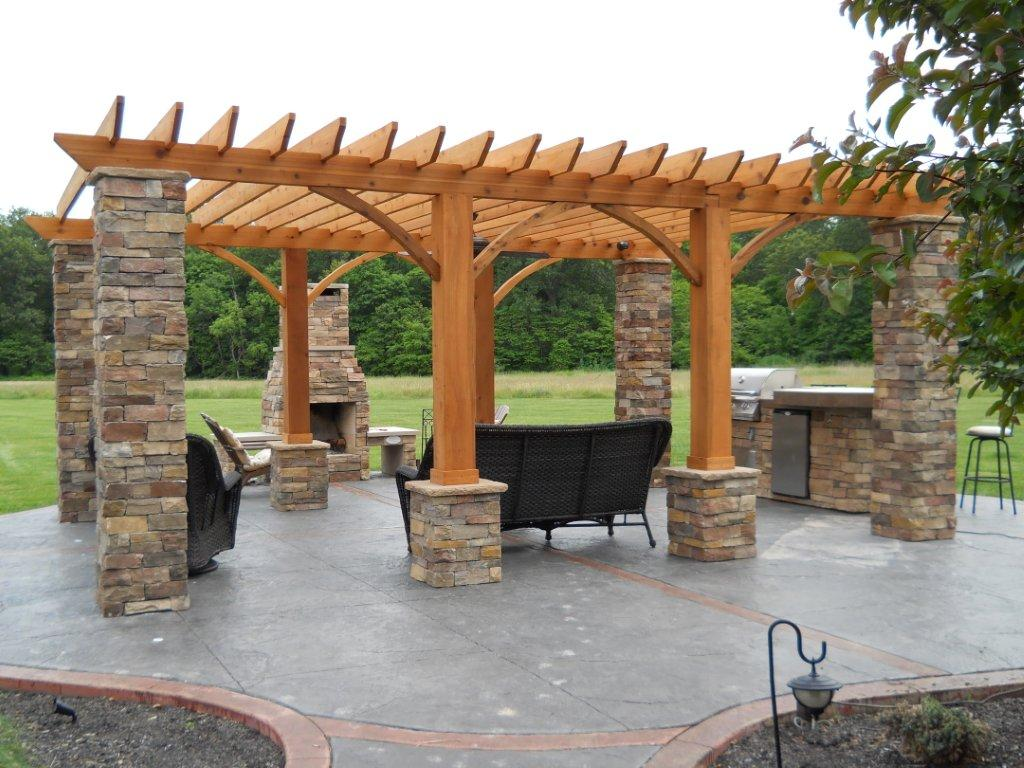 Outdoor Living: Decorative Concrete - Outdoor Living Space ... on Fancy Outdoor Living id=64284
