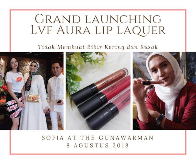 agar bibir tidak kering dan rusak gunakan lvf aura lip lacquer