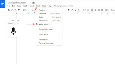 Cara membuat google docs tanpa harus menyentuh keyboard