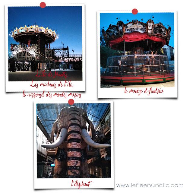 l'île de Nantes, les machines de l'île, le carrousel des mondes marins, le manège d'Andréa, l'éléphant, FLE, le FLE en un 'clic'