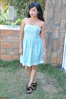 Sahana New cute Telugu Actress in Sky Blue Small Sleeveless Dress ~  Exclusive Galleries 041.jpg