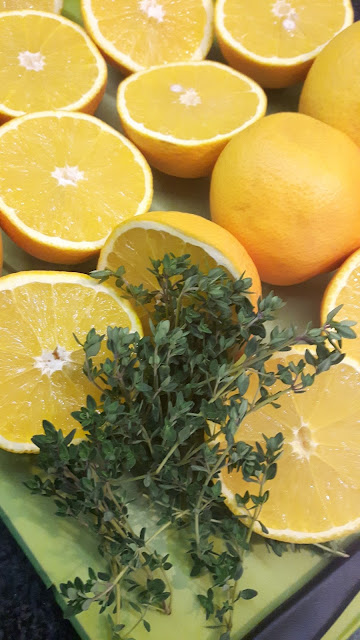 Orangenmarmelade mit Thymian