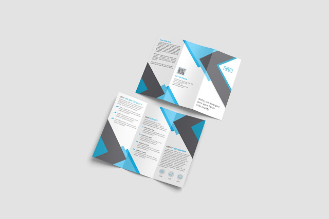 download tri-fold brochure mockup