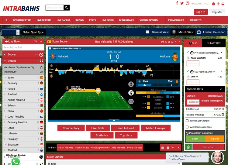 Intrabahis Live Betting Offers
