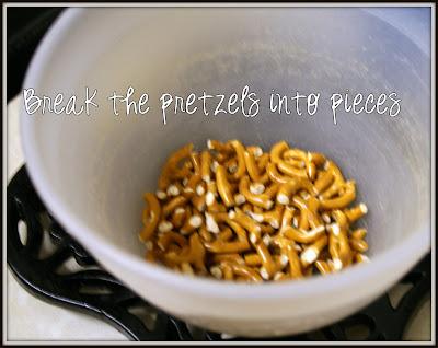 Broken up pretzel pieces