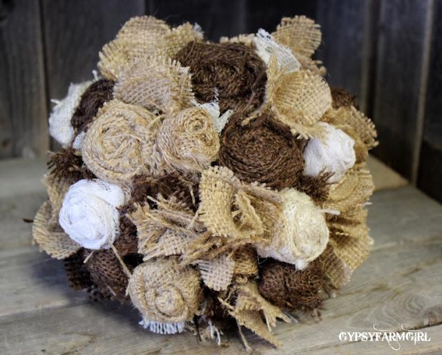 Burlap Wedding Bouquet