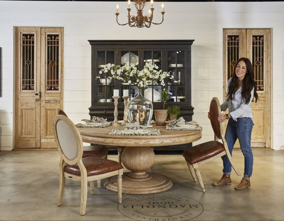 Ive Only Seen Limited Pieces Of Joannas Furniture Line So I Had No Idea The Magnolia Created A Table Similar To Our World Market Dining