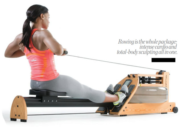 The rowing motion works legs