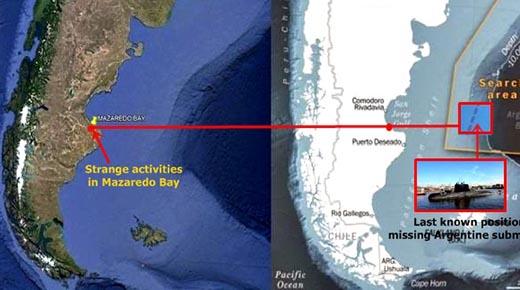 Extrañas figuras en la Bahía de Mazaredo en Argentina se comunican con