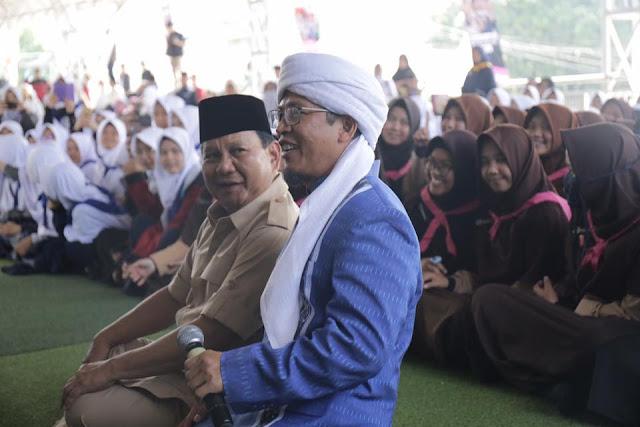 Aa Gym: Saya Kenal Baik Prabowo Sejak 90-an, Beliau yang Membela Umat Islam sejak Dulu