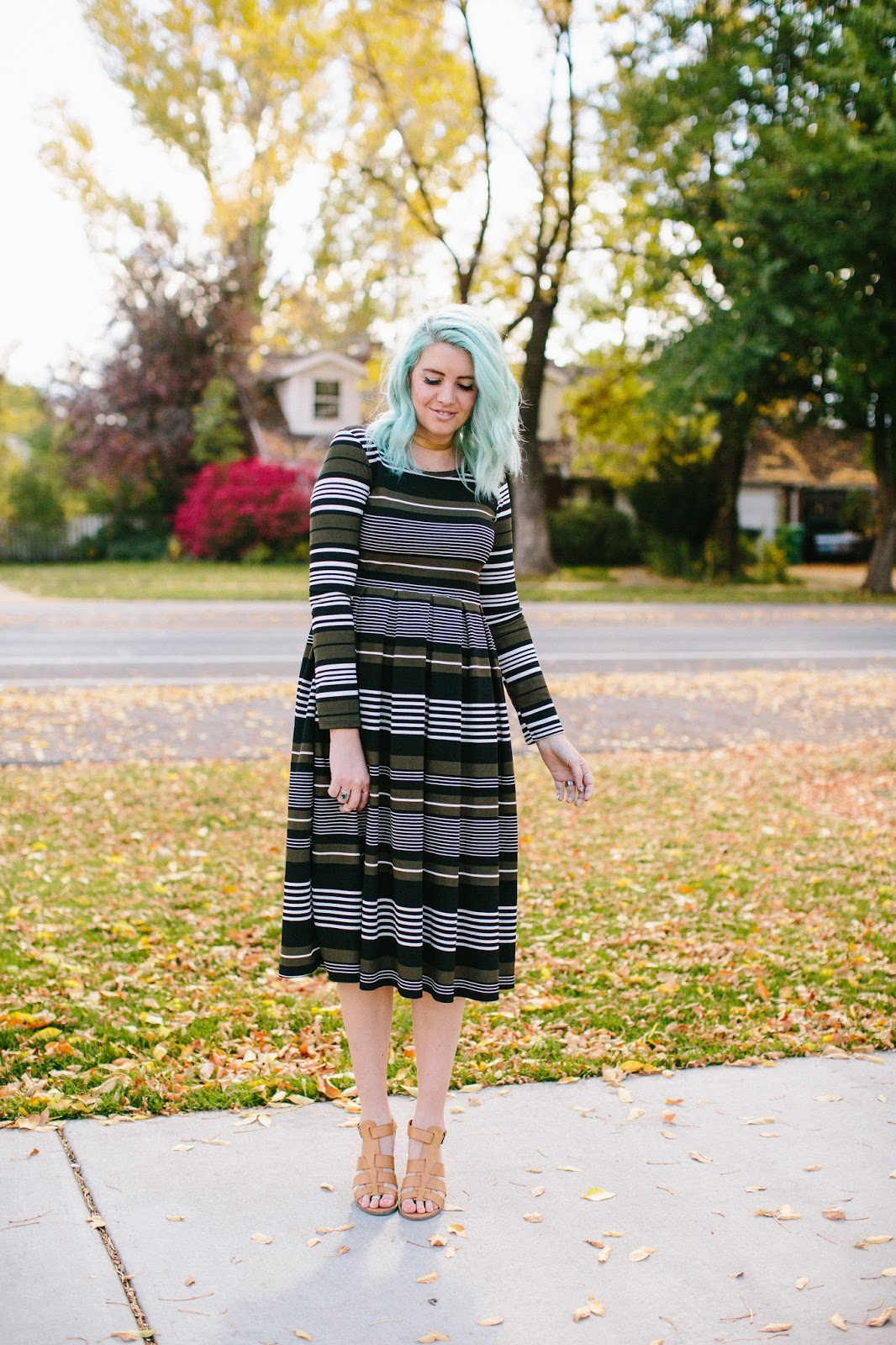 Striped Dress, Fall Dress, Fall outfit